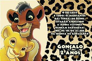 Convite digital personalizado Rei Leão 003