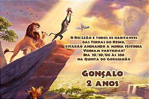 Convite digital personalizado Rei Leão 006