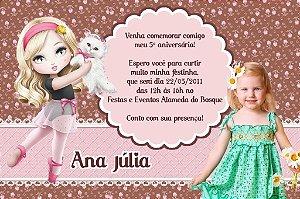Convite digital personalizado Jolie da Tilibra com foto 002