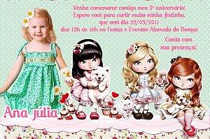 Convite digital personalizado Jolie da Tilibra com foto 003