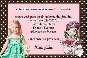 Convite digital personalizado Jolie da Tilibra com foto 004