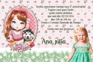 Convite digital personalizado Jolie da Tilibra com foto 006