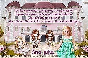 Convite digital personalizado Jolie da Tilibra com foto 008