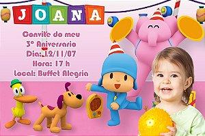 Convite digital personalizado Pocoyo com foto 007