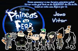 Convite digital personalizado Phineas and Ferb 006