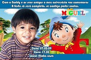 Convite digital personalizado do Noddy com foto 002