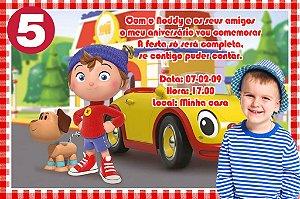 Convite digital personalizado do Noddy com foto 010