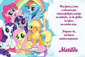 Convite digital personalizado My Little Pony 001