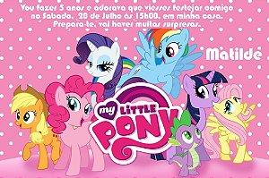 Convite digital personalizado My Little Pony 002