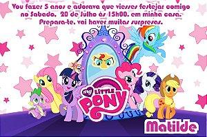 Convite digital personalizado My Little Pony 003