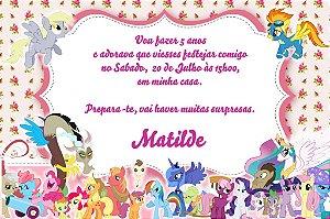 Convite digital personalizado My Little Pony 004