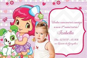 Convite digital personalizado Baby Moranguinho com foto 002