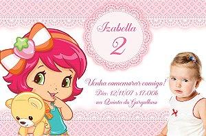 Convite digital personalizado Baby Moranguinho com foto 003