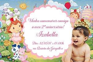 Convite digital personalizado Baby Moranguinho com foto 005
