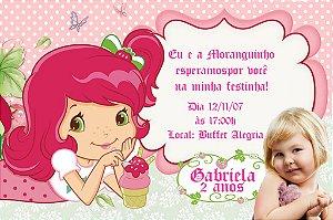 Convite digital personalizado Moranguinho com foto 092