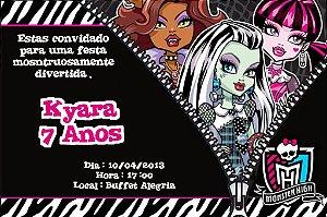 Convite digital personalizado Monster High 002