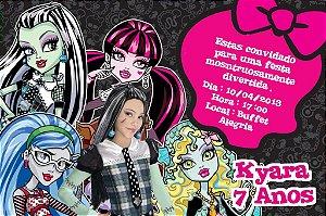 Convite digital personalizado Monster High com foto 004