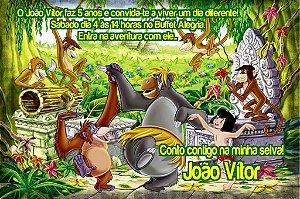Convite digital personalizado Mogli, O Menino Lobo 001