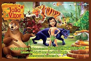 Convite digital personalizado Mogli, O Menino Lobo 004