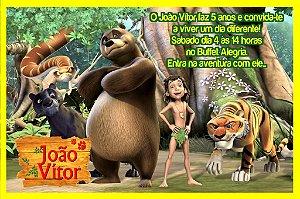 Convite digital personalizado Mogli, O Menino Lobo 006