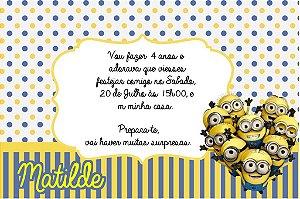 Convite digital personalizado Minions 006