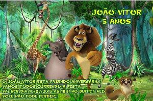 Convite digital personalizado Madagáscar 001