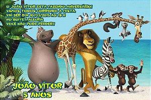 Convite digital personalizado Madagáscar 002
