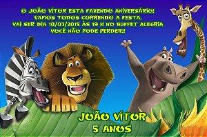 Convite digital personalizado Madagáscar 004