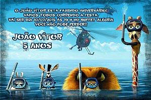 Convite digital personalizado Madagáscar 016