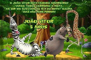 Convite digital personalizado Madagáscar 018