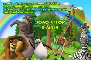 Convite digital personalizado Madagáscar 021