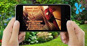 Convite digital personalizado Homem Aranha 001