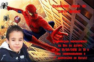 Convite digital personalizado Homem Aranha com foto 008