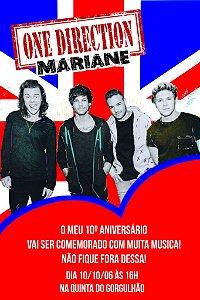 Convite digital personalizado One Direction 002