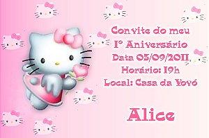 Convite digital personalizado Hello Kitty 001