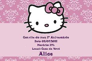 Convite digital personalizado Hello Kitty 007