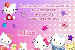Convite digital personalizado Hello Kitty 010