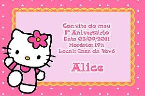 Convite digital personalizado Hello Kitty 011