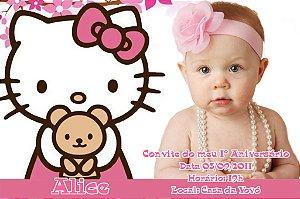Convite digital personalizado Hello Kitty com foto 002