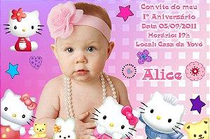 Convite digital personalizado Hello Kitty com foto 010