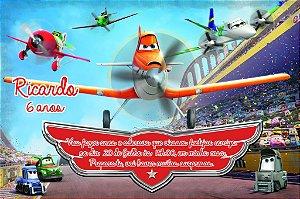 Convite digital personalizado Aviões da Disney 004
