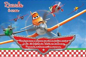 Convite digital personalizado Aviões da Disney 005