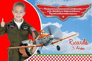 Convite digital personalizado Aviões da Disney com foto 001