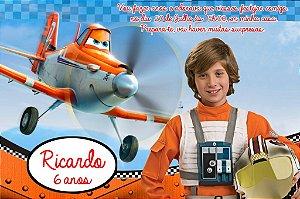 Convite digital personalizado Aviões da Disney com foto 003