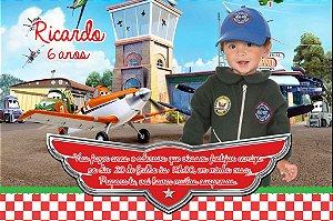 Convite digital personalizado Aviões da Disney com foto 005