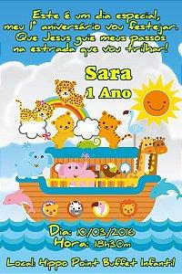 Convite digital personalizado Arca de Noé 002