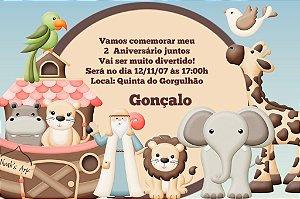 Convite digital personalizado Arca de Noé 007