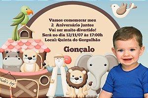 Convite digital personalizado Arca de Noé com foto 007