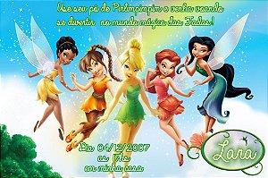 Convite digital personalizado Fadas Disney 027