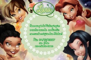 Convite digital personalizado Fadas Disney 030